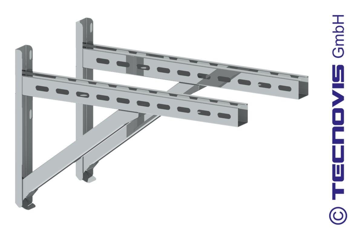 Wandkonsole TYP2 (Paar) Abstand bis 24cm