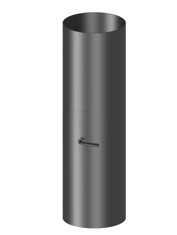 Längenelement 50cm mit Drosselklappe und Tür (ohne Einzug)