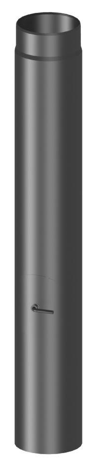 Längenelement 1 Mtr mit Drosselklappe und Tür (mit Einzug)