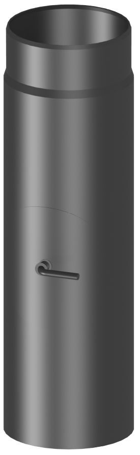 Längenelement 50cm mit Drosselklappe und Tür (mit Einzug)