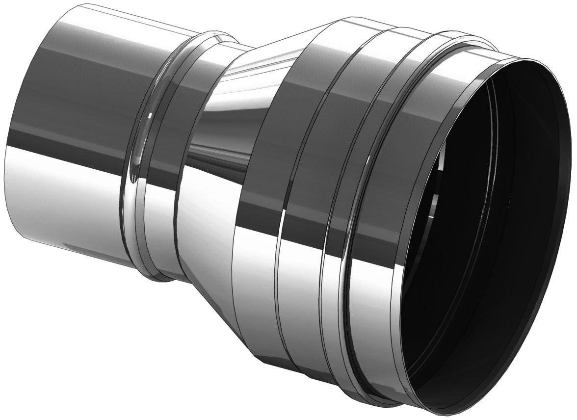 Verbreding RVS 100 naar 120 mm