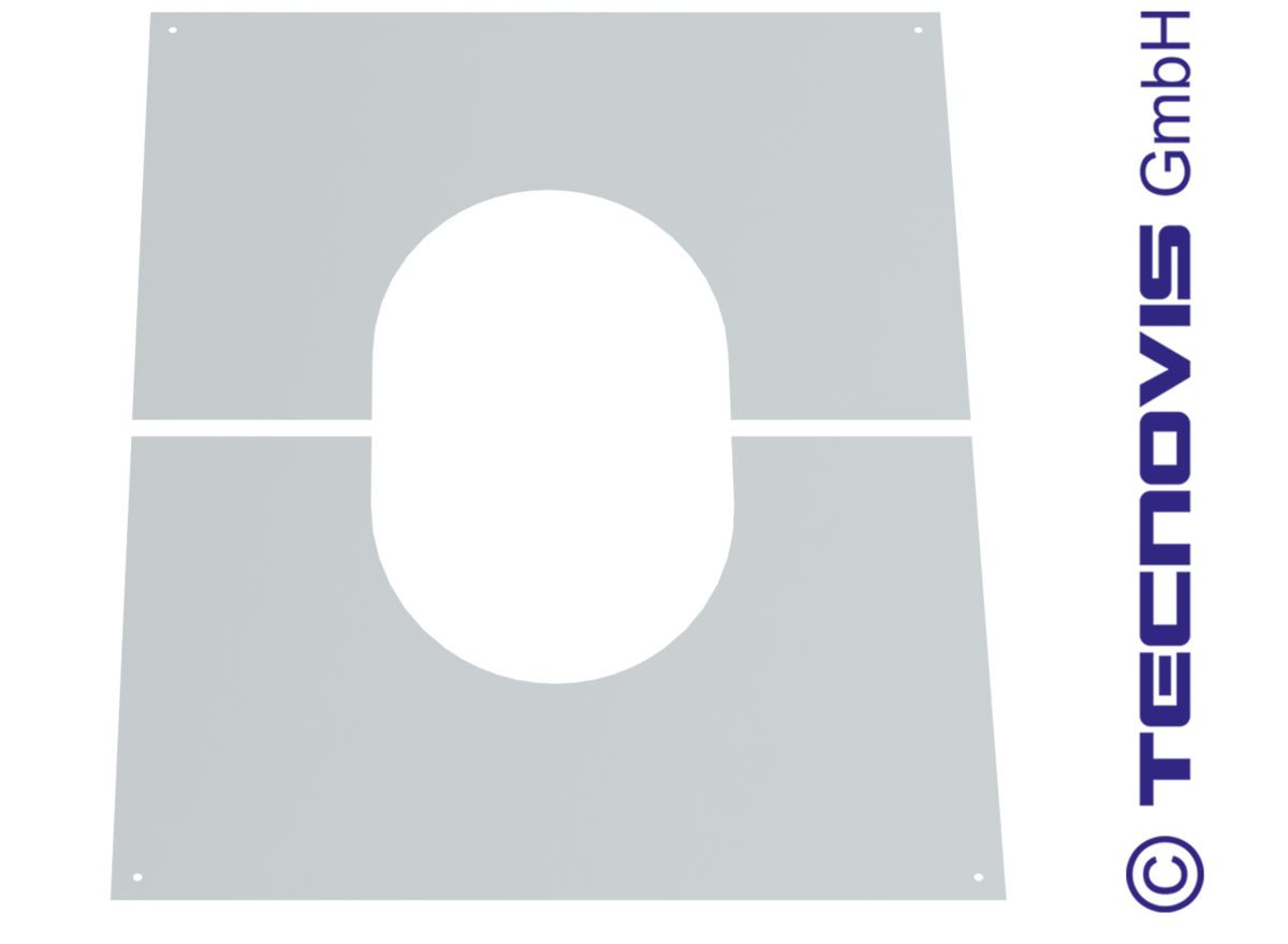Deckenblende für Hinterlüftung, zweiteilig 1°-65°