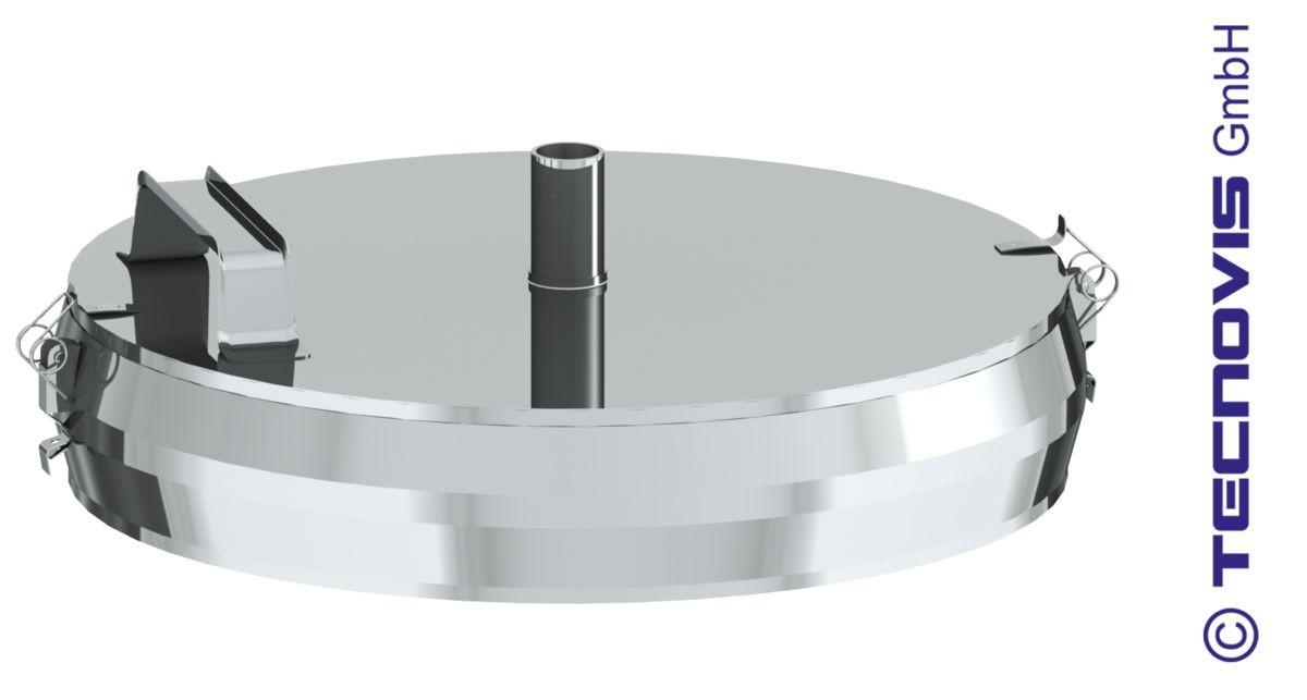 Russtopf/Verschlussdeckel mit Kondensatablauf 130mm