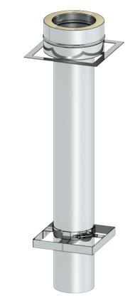 Ankerplatte 1000 mm mit Übergang auf DW-SILVER - Leichtbauschornstein