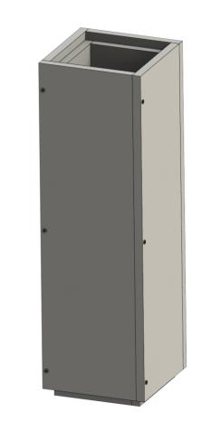 Schachtelement 1000 mm - Leichtbauschornstein
