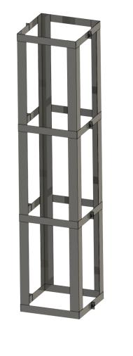 Statikset für Schacht 4 m hoch - Leichtbauschornstein