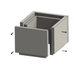 Schachtelement 250 mm - Leichtbauschornstein