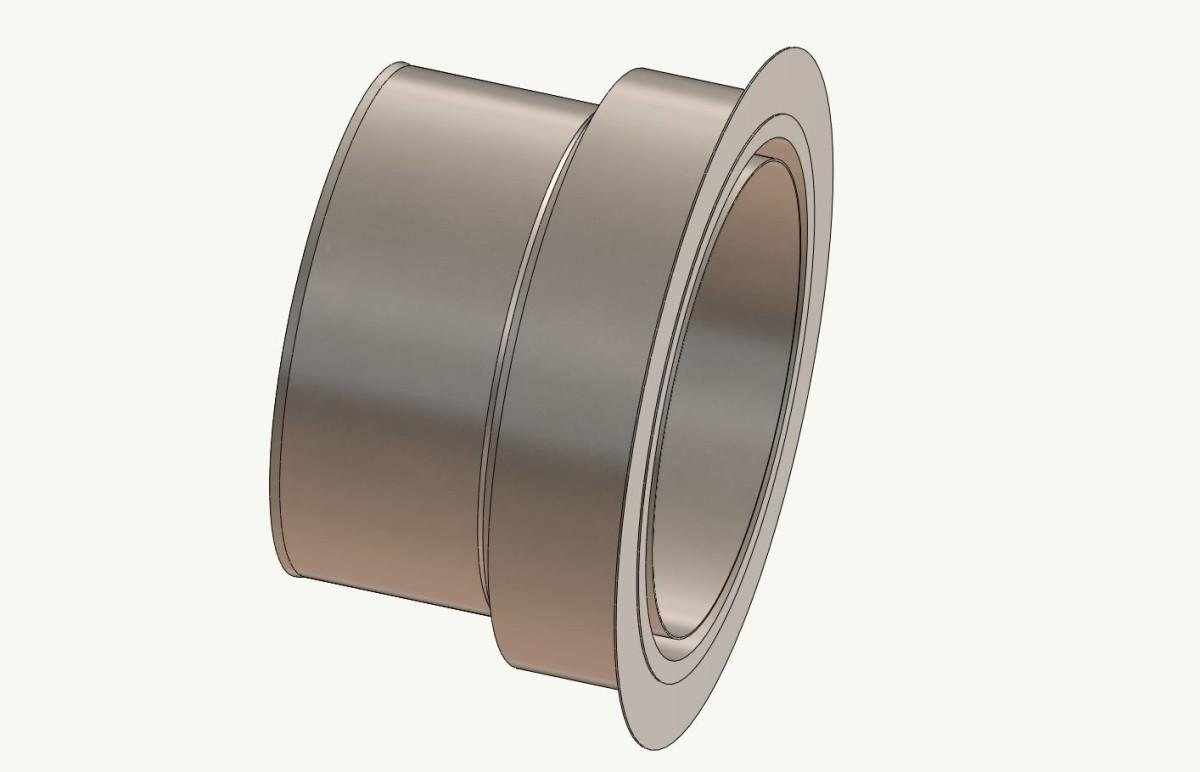Wandfutter - Adapter 150 auf Ofenrohr 120 mm
