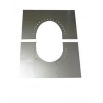 Blendbleche zweiteilig 0-30°mit Hinterlüftung