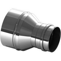 Versmalling RVS 110 naar 100 mm