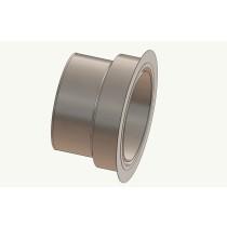 Wandfutter - Adapter 130 auf Ofenrohr 80 mm